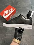 Мужские кроссовки  Nike Air Force 1 Low Black (копия), фото 8