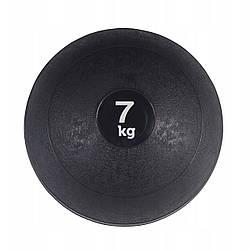 Слэмбол 7 кг (медицинский мяч) для кроссфита SportVida Slam Ball SV-HK0198 Black для дома и спортзала