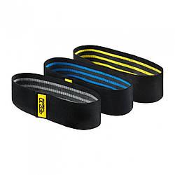 Резинка для фитнеса и спорта тканевая 4FIZJO Hip Band 3 шт 4FJ0072