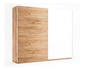 Двухдверный шкаф купе Ники (2 двери Дуб крафт + Глянец)