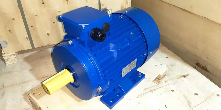 Электродвигатель 11 кВт 3000 об/мин АИР132М2 380/660в лапа В3 ( 1М 1081), фото 2