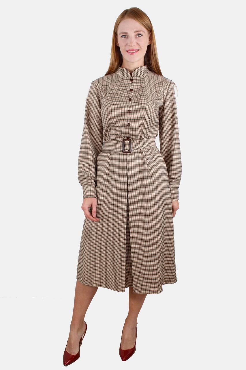 Платье деловое со складкой впереди 44-50 р