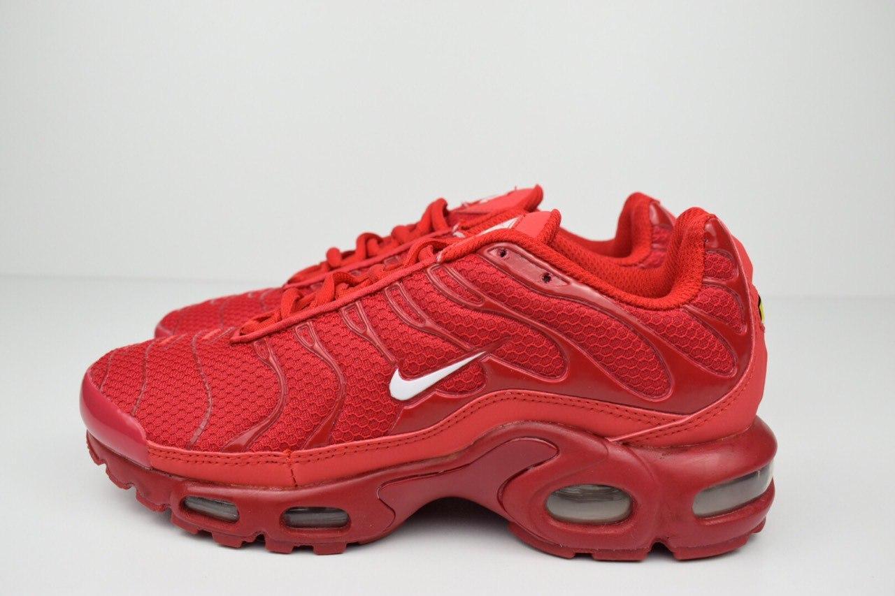 Кросівки розпродаж АКЦІЯ 550 грн останні розміри Nike TN Plus червоні 41р 26 см люкс копія