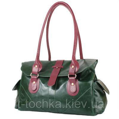 Женская сумка из качественного кожезаменителя  laskara (ЛАСКАРА) lk-10250-green