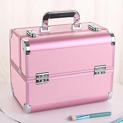 Бьюти кейс для косметики визажиста / сумка для бровиста / кейс органайзер для мастера маникюра