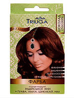 Природная краска для волос на основе хны TRIUGA, цвет шоколад, 25 г
