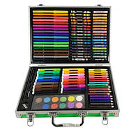 Набор для рисования в чемоданчике MK 2454, 34.5x25x6 см, зеленый