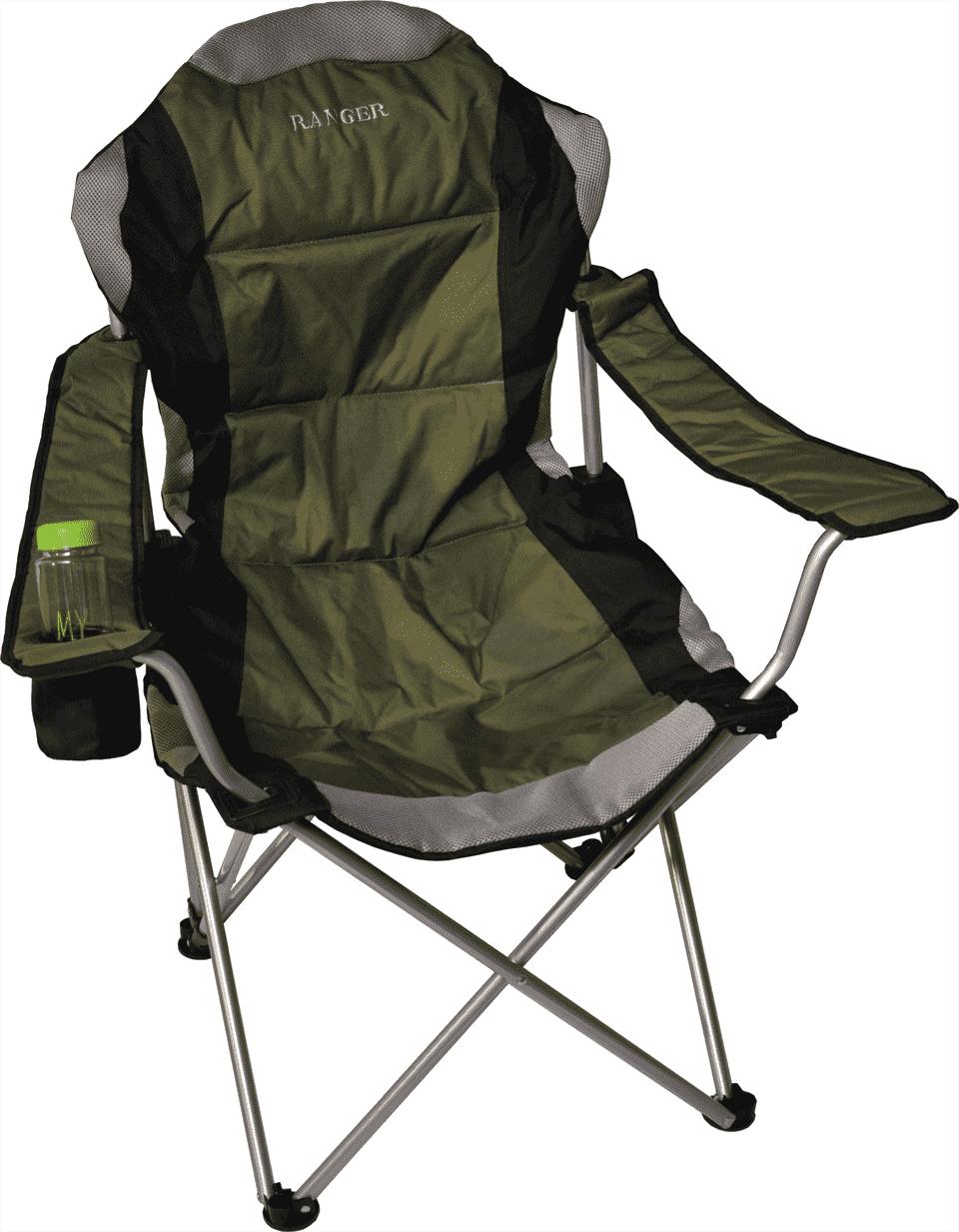 Кресло складное Ranger FC 750-052 Green RA 2221 с подстаканником, зеленый