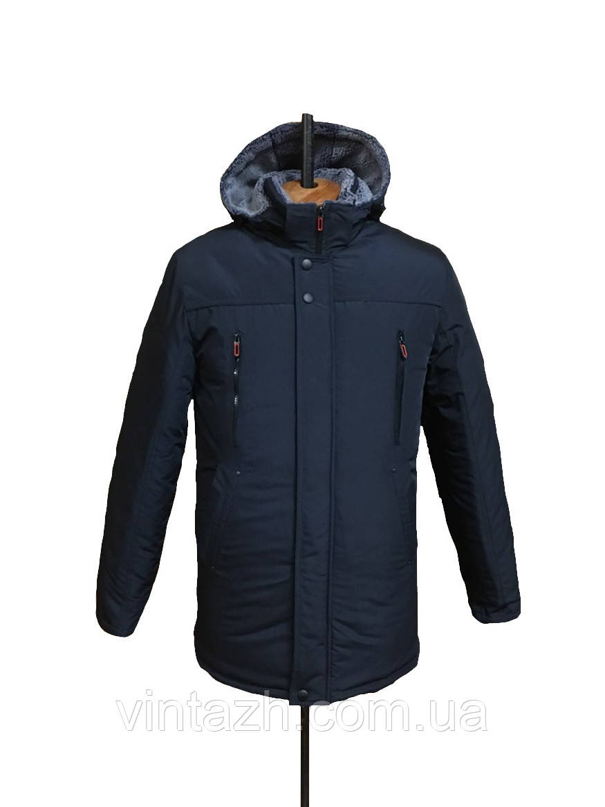 Мужская зимняя куртка теплая ровная размеры 46-56