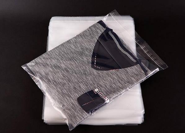 Пакеты упаковочные 20 микрон с липкой лентой. Размер 30 см*40 см, в упаковке 100 штук, фото 2