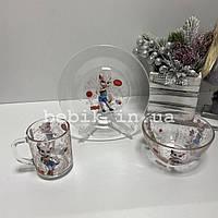 Подарочный набор детской посуды из стекла Talking Angela