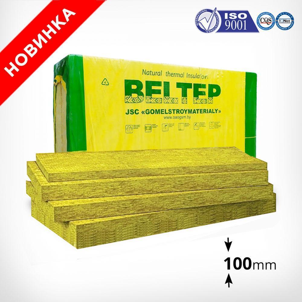 Толщина 100мм. Фасадный каменный утеплитель Белтеп (135 кг/м.куб.)