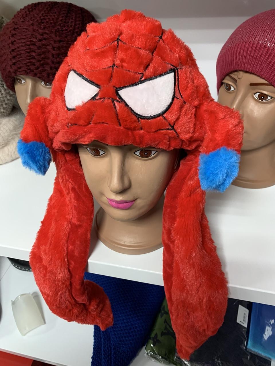 Светящаяся Шапка детская - Кугуруми - Человек паук (Spiderman)