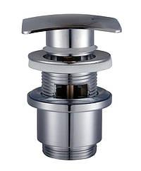 HG-043B - Click-clack--Донний клапан Квадро Латунь,З переливом