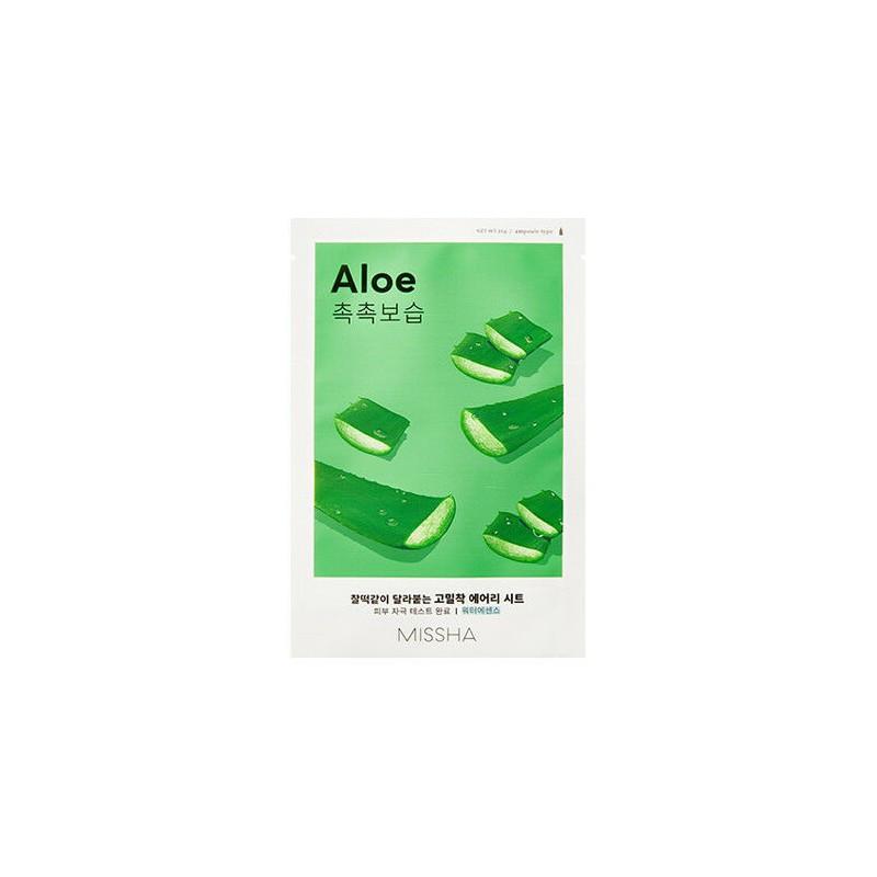 Зволожуюча тканинна маска з екстрактом алое Маска для обличчя MISSHA Airy Fit Sheet Mask Aloe