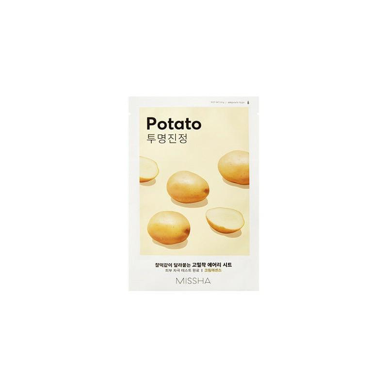 Увлажняющая тканевая маска с экстрактом картофеля Маска для лица MISSHA Airy Fit Sheet Mask Potato