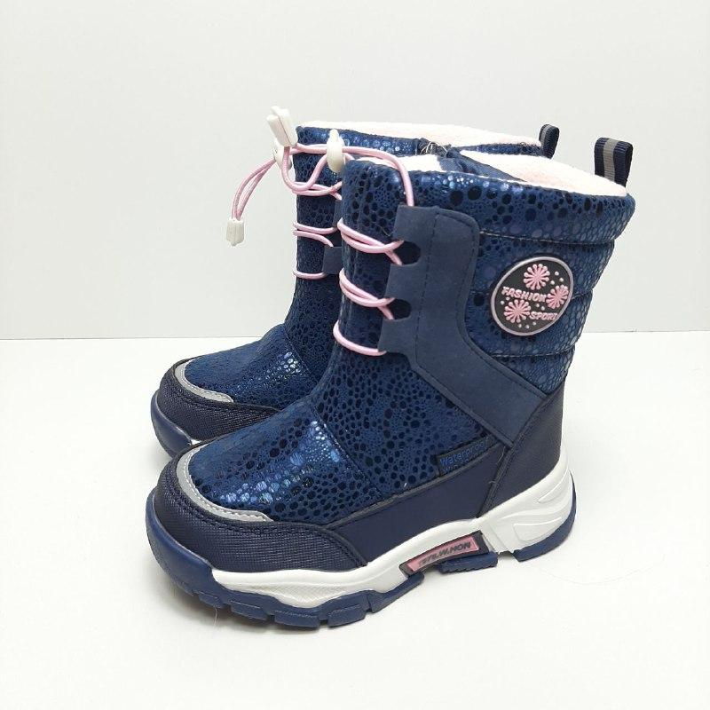 Зимние сапоги для девочки Tom.m Синий р. 27 (17,5 см), 30 (19,5 см), 31 (20 см)