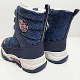 Зимние сапоги для девочки Tom.m Синий р. 27 (17,5 см), 30 (19,5 см), 31 (20 см), фото 3