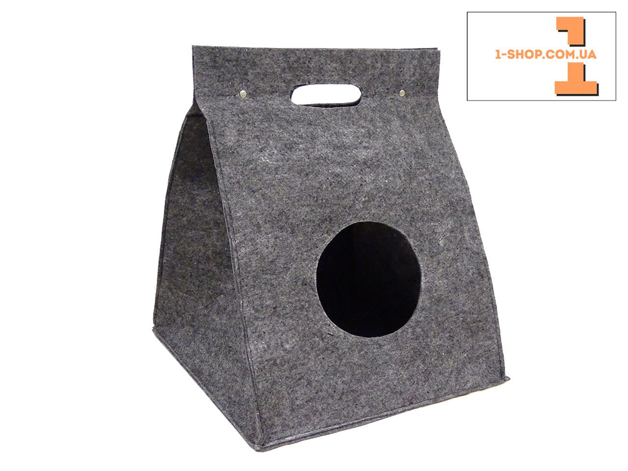 """Домик """"палатка"""" на кнопках для кошек и собак (полушерсть)."""