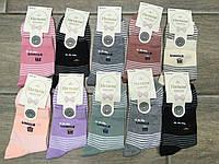 Женские цветные носки (и для девочек подростков) 36-40