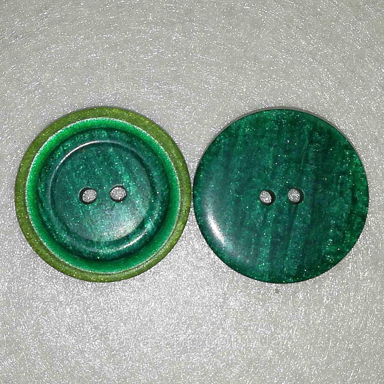 Пуговица пластмассовая 28 мм Цвет зеленый Упаковка 500 штук