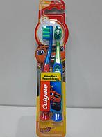 Детская Colgate Зубная щетка 2 шт. На Присоске Blaze Тачки Extra Soft Экстра Софт