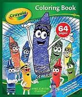 Книга Раскраска Crayola Детская на 64 страницы Крайола Команда восковых карандашей