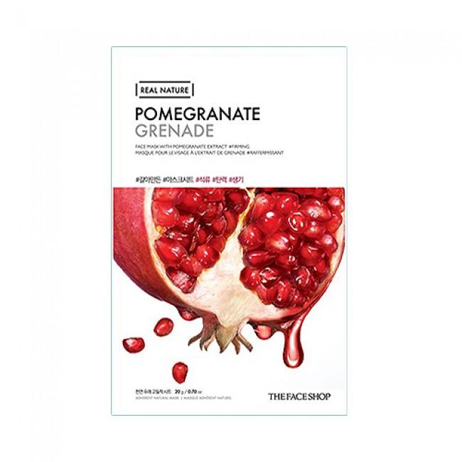 Зміцнює і відновлює тканинна маска з екстрактом граната The Face Shop Real Nature Pomegranate