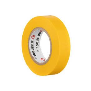 Лента изоляционная 0.15мм*17мм*15м желтая INTERTOOL IT-0042, фото 2