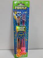 Набор 2 шт. Детская Зубная щетка На Присоске с Таймером 1 минута Firefly США