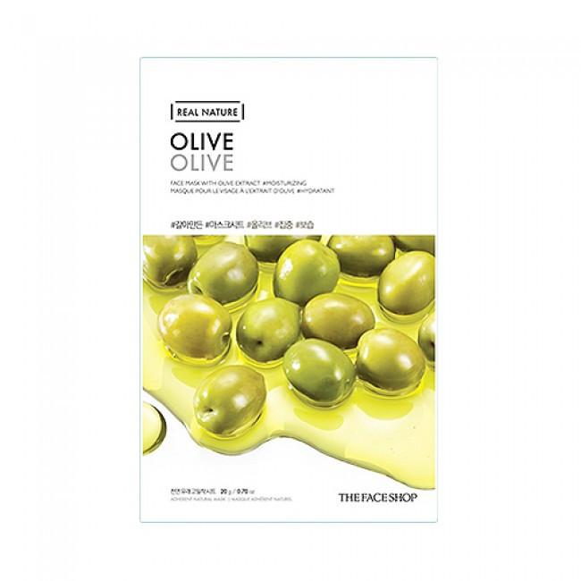 Ультраувлажняющая тканевая маска с экстрактом оливок The Face Shop Real Nature Olive