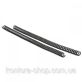 Спіраль пластикова А4 25 мм (4:1) чорна, 50 штук