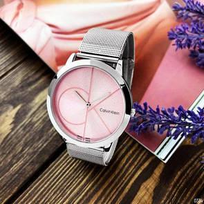 Жіночі годинники CK 2140CF Silver-Pink Big