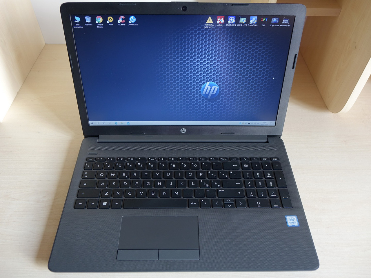 Ноутбук HP 250 G7 15.6 FHD 1920*1080 Intel Cote i3-7020U8GB/SSD 256GB/Intel HD 620 Наработка 17 дней (6BP57EA)
