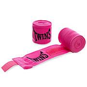 Бинты боксерские (2шт) хлопок с эластаном TWINS MA-5466-3 Розовый