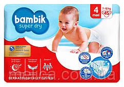 Подгузники детские Bambik Super Dry Maxi 4 (7-18 кг) - 45 шт.