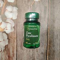 Puritan's Pride Zinc Picolinate 25 mg 100 tab, пиколинат цинка, фото 1