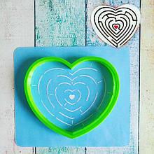 Трафарет + формочка-вырубка для пряников Лабиринт в сердце