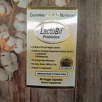 California Gold Nutrition LactoBif Probiotics 30 Billion CFU 60 veg caps пробиотики 30 млрд КОЕ