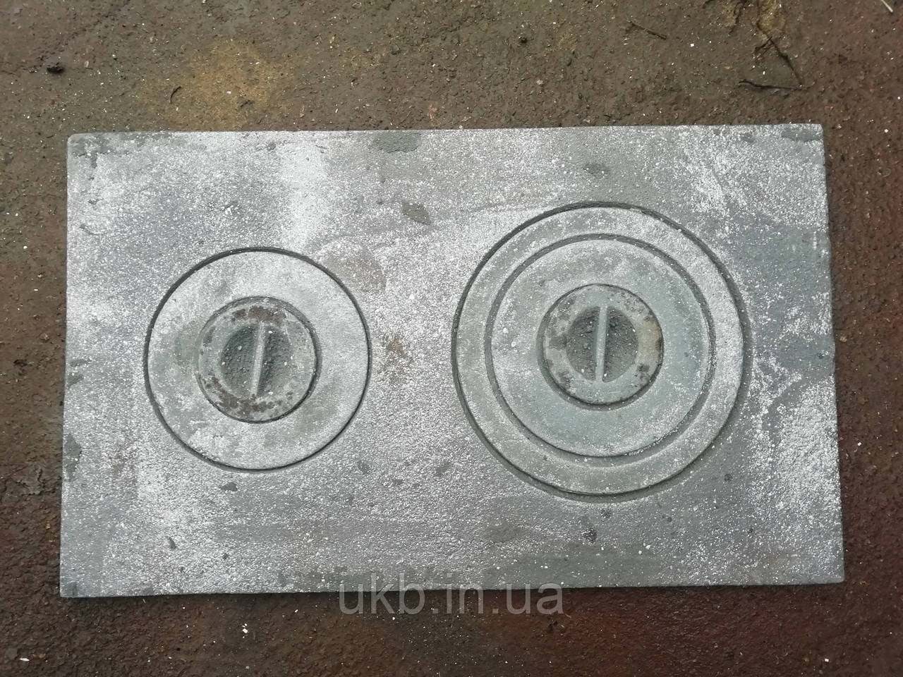 "Плита чавунна двухкомфорочная 590*350 мм ЗБ"" / Плита чавунна двокамфорна 590*350 мм ""ЗБ"""