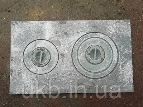 """Плита чавунна двухкомфорочная 590*350 мм ЗБ"""" / Плита чавунна двокамфорна 590*350 мм """"ЗБ"""", фото 2"""