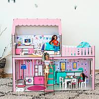 """Кукольный домик для Барби Розовый """"ЛЮКС Мини Новый"""" 3 комнаты (67 см), без мебели"""