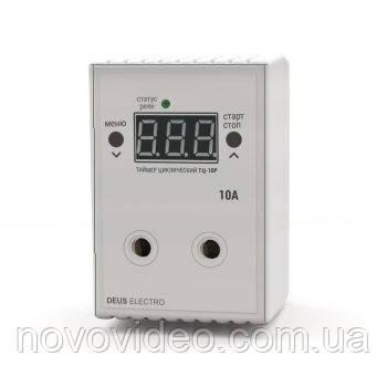 Циклический таймер розетка цифровой ТЦ-10Р (V1) на 10 ампер