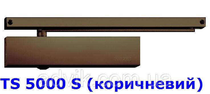 Доводчик із затримкою закриття Geze TS 5000 S з ковзною тягою (коричневий)