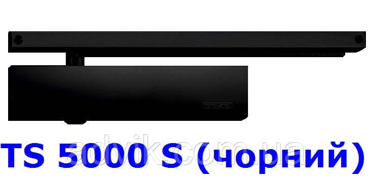 Доводчик із затримкою закриття Geze TS 5000 S з ковзною тягою (чорний)