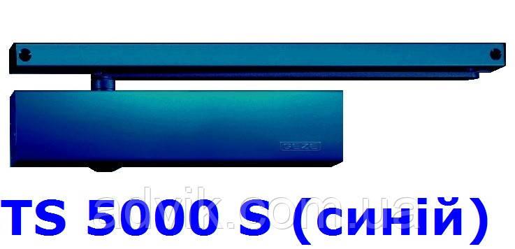 Доводчик із затримкою закриття Geze TS 5000 S з ковзною тягою (синій)