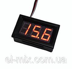 Вольтметр цифровой DC 0-99.9В, 0.56'', красный инд., Китай