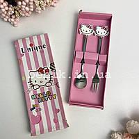 Подарочный набор детских столовых приборов Hello Kitty