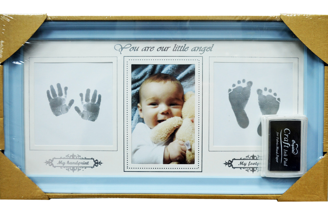 """Мультирамка """"Мой Малыш"""" с отпечатком ручки и ножки (рамка для фотографий на стену)"""
