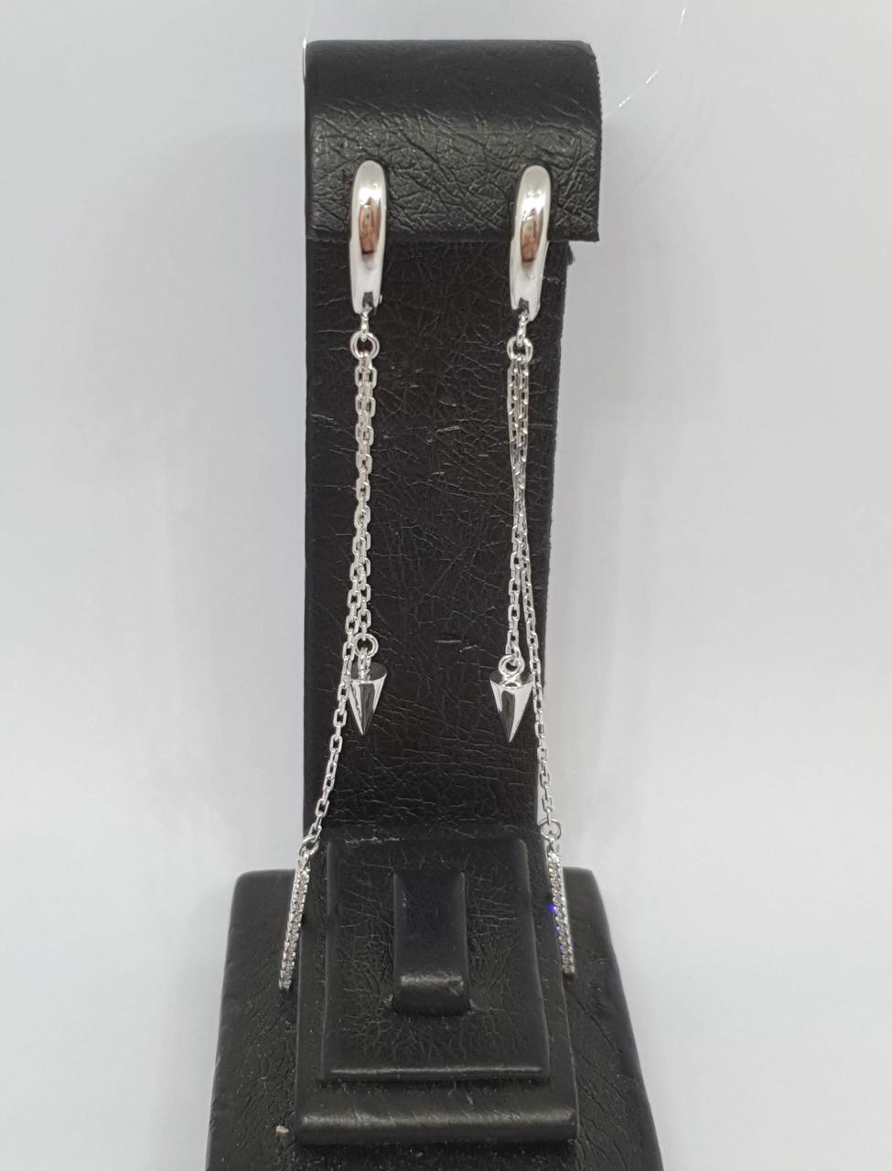 Серебряные серьги с фианитами. Артикул 3374.1С
